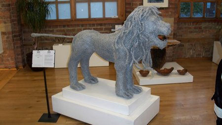 Wire Sculptures by Gary Tiplady » Gary\'s Percy lion wire sculpture ...